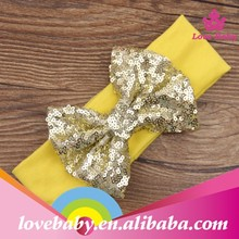 Hot sales yellow bow knot kids girls hair accessories/halloween headband LBS5070410
