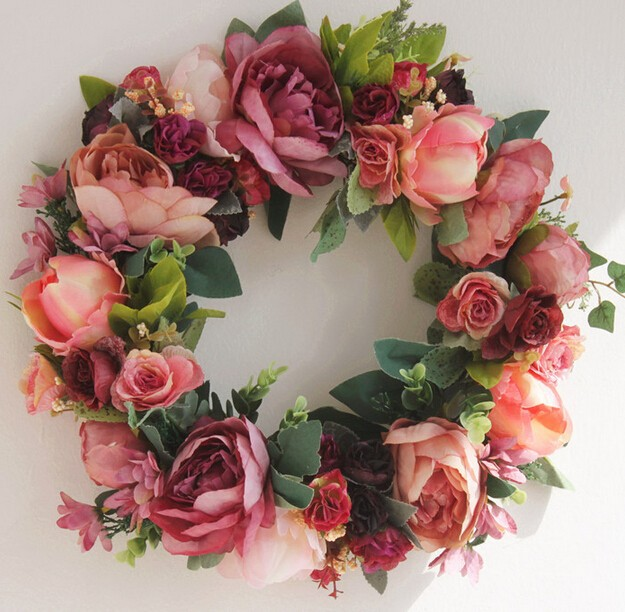 New 2015 Spring Artificial Flower Wreaths