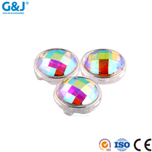 Guojie brand factory produce design good quality colorful round shape acylic cup with resin stone for wholesale