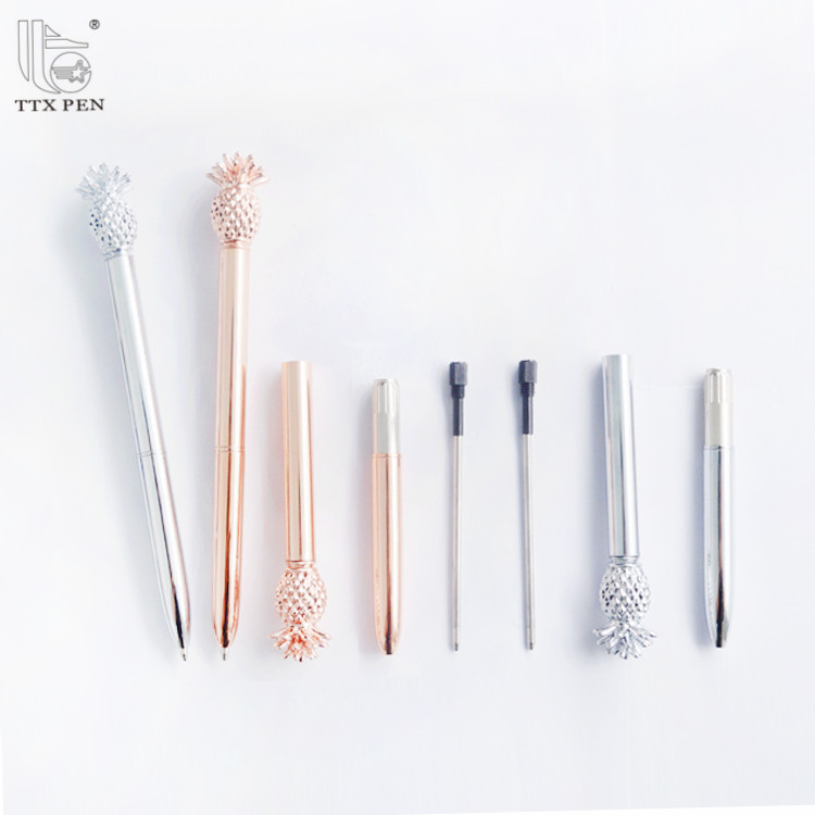 hot sale new design pineapple Custom Logo Promotional Metal Ball Pen