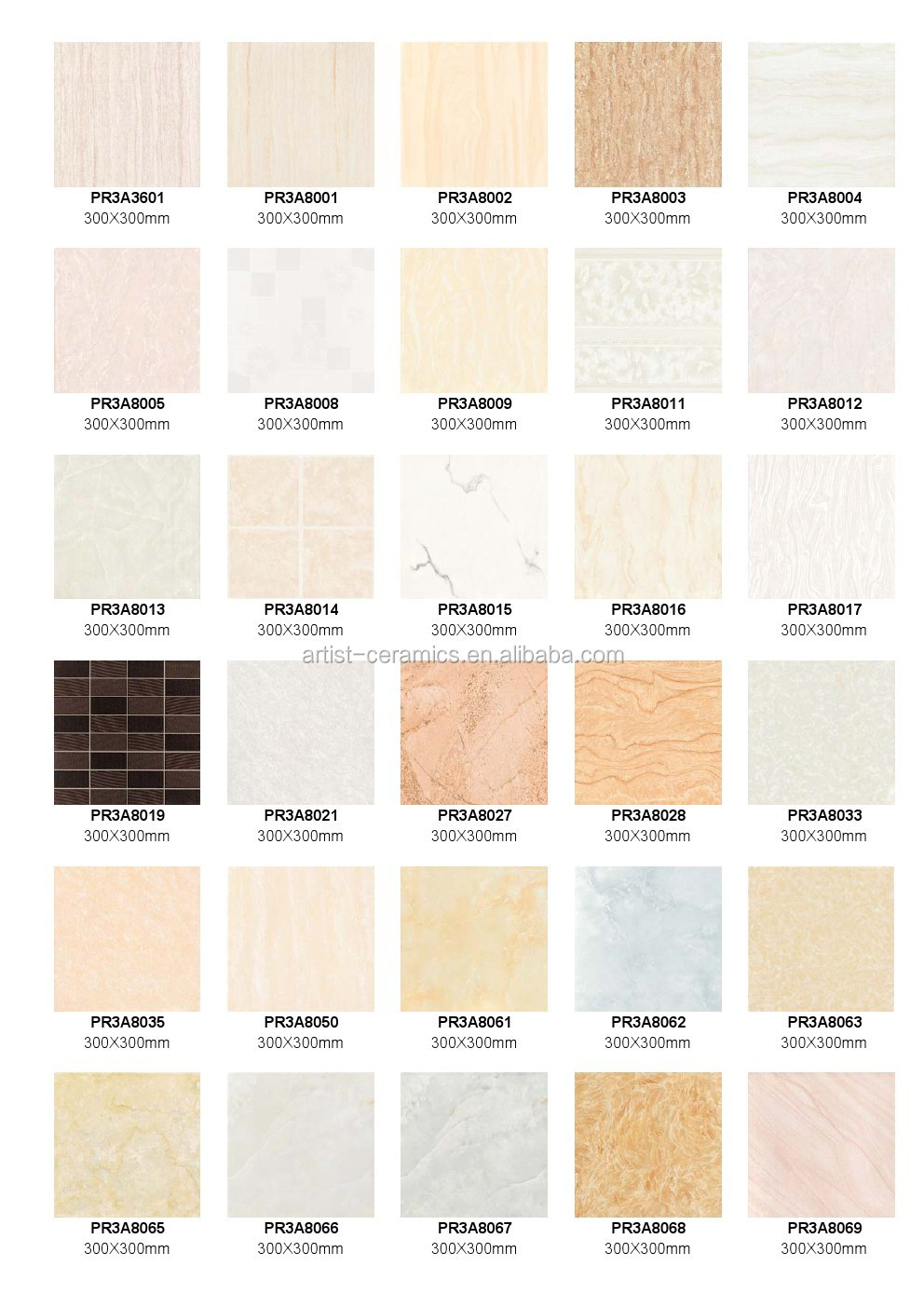 Ceramic Wall Series Mass Ceramic Tile Glazed Glossy