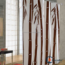 2016 promotional bamboo printed turkey shower curtain