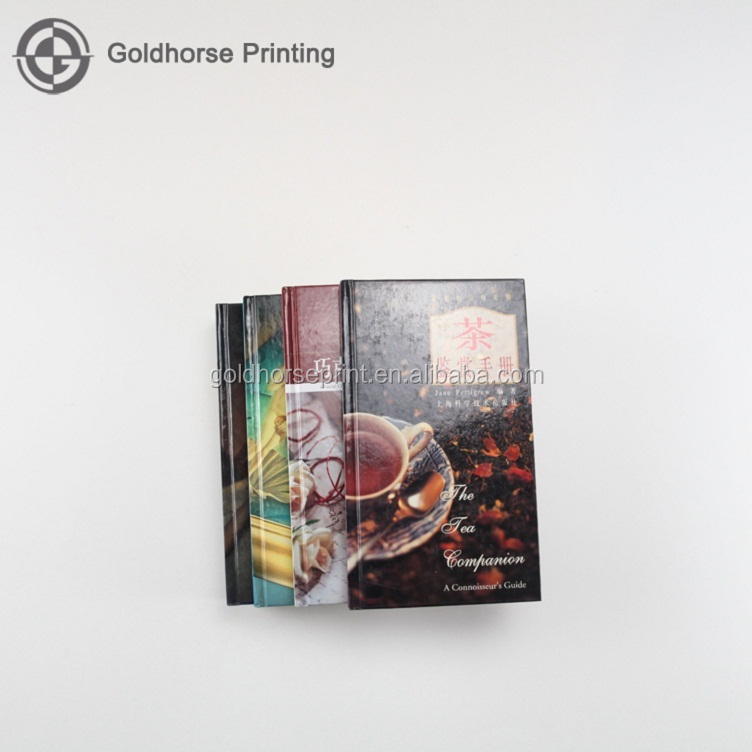 CN Fashion fast delivery time efficent functional custom high graded tea handbook printed for promotional