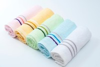 W8 100% Cotton Stripe Border Face Towel