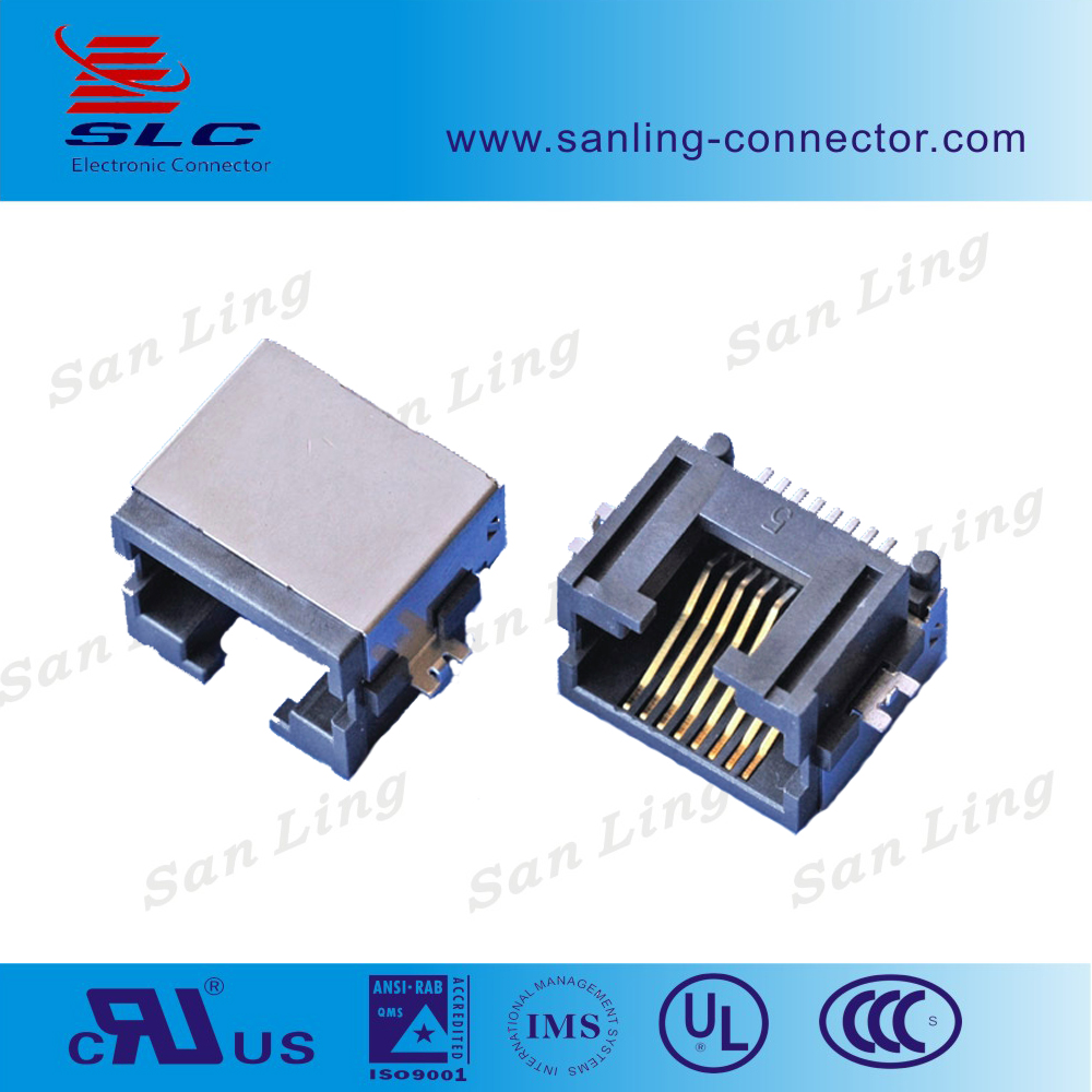 SMT Female 8 Pin RJ45 Connector