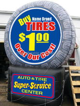 inflatable display giant tire for sale