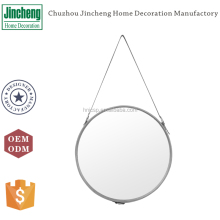 New arrival faux leather decorative unique wall mirror