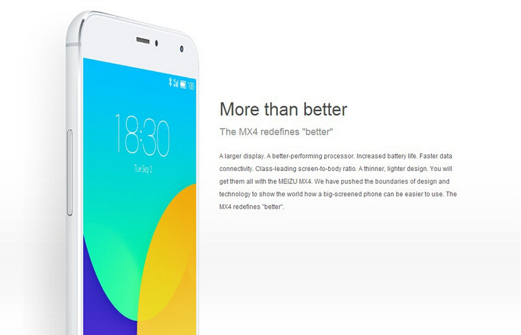 "Original Meizu MX4 4G LTE Mobile Phone 5.36"" 1920x1152 MTK6595 Octa Core 2GB RAM 16/32GB ROM 20MP Camera 3100mAh GPS WCDMA"