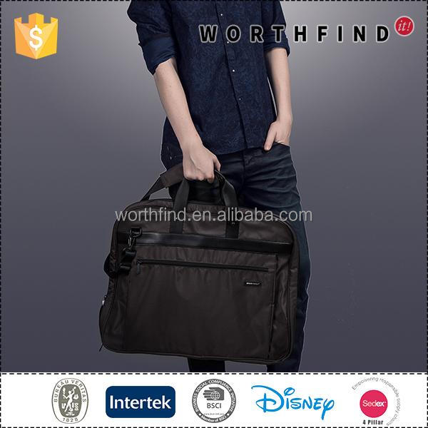 Factory direct sale lightweight polyester black custom printed foldable travel suit bag