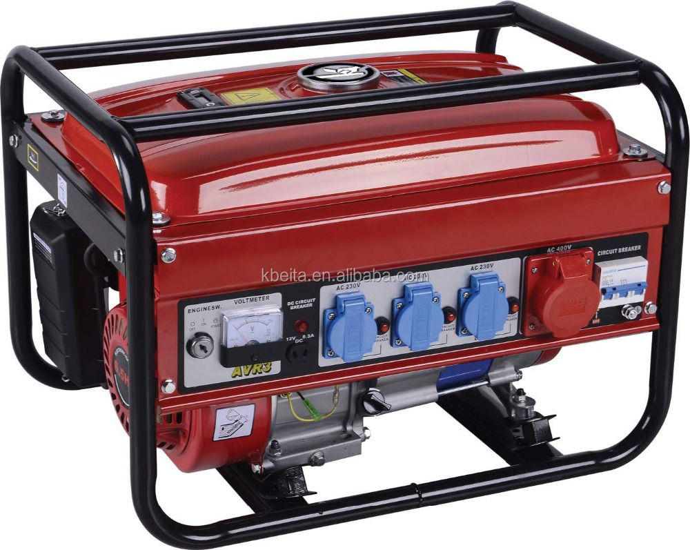 380V more power three phase gasoline generator set for home