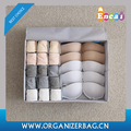 Encai Classic Underwear Storage Box For Underpant & Socks Collapsible Bra Storage Box With Lid