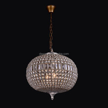 Classical Crystal Chain Chandelier round pendant light