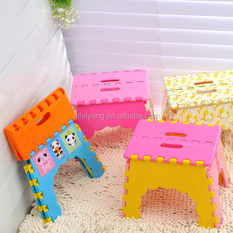 Newest colorful plastic anti-slip folding stool/chair indoor/outdoor