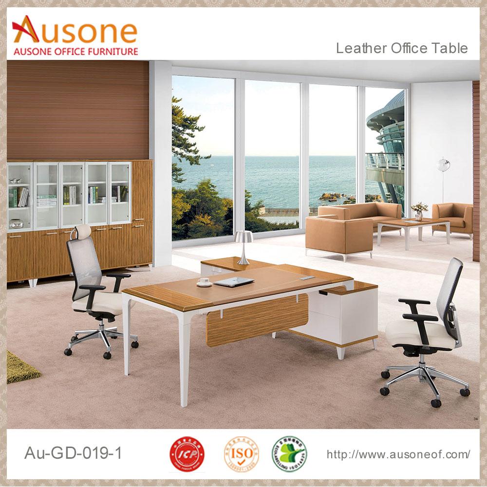 Modern Design Unique Tall White High Gloss Office Desk - Buy White ...