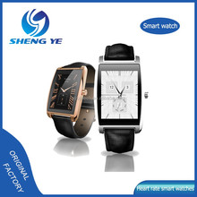 Fashion business Wristwatches for leisure men, pebble smart watch with heart rate monitor, stainless