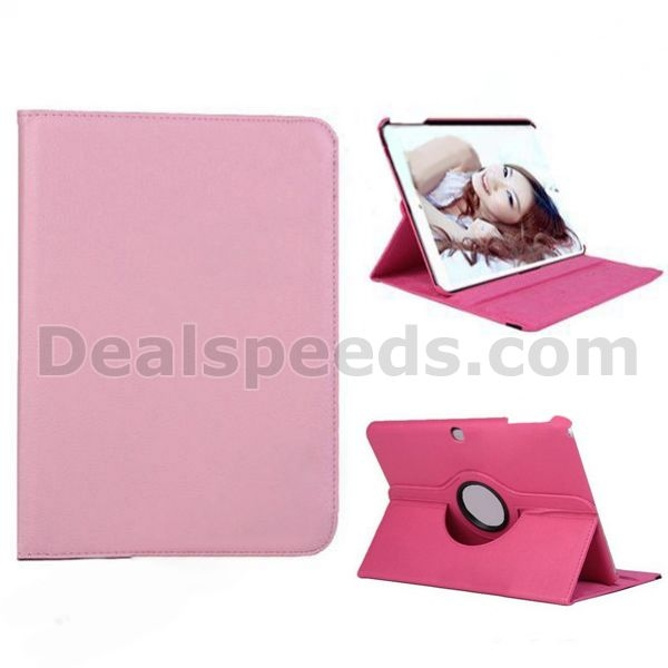 On Sell Lichee Pattern 360 Rotatable Flip Stand PC+ PU Leather Case for Samsung Tab 4 10.1 T530