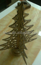 Table Christmas Trees Decoration Wood Christmas Tree with Ornament