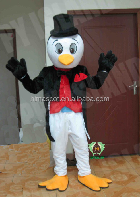 HI CE gentle formal adult penguin mascot costume with hats for sale