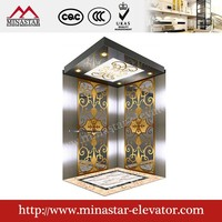 450kg~1600kg Suzhou Commercial Hotel and Office Passenger Elevator passenger elevator types and parts
