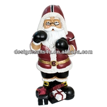 Boxing Santa Clause Resin Boxing Figurine