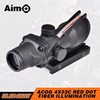 Aim-O ACOG 4X32 Fiber Source Red dot Illuminated with Reticle Tactical scope Telescope Sniper Sight AO 1002