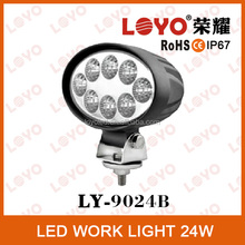Best Selling round car headlight lamp/car LED Work Light/24w Spotlight work light for firetruck,forklift,tractor,atv,motorcycle