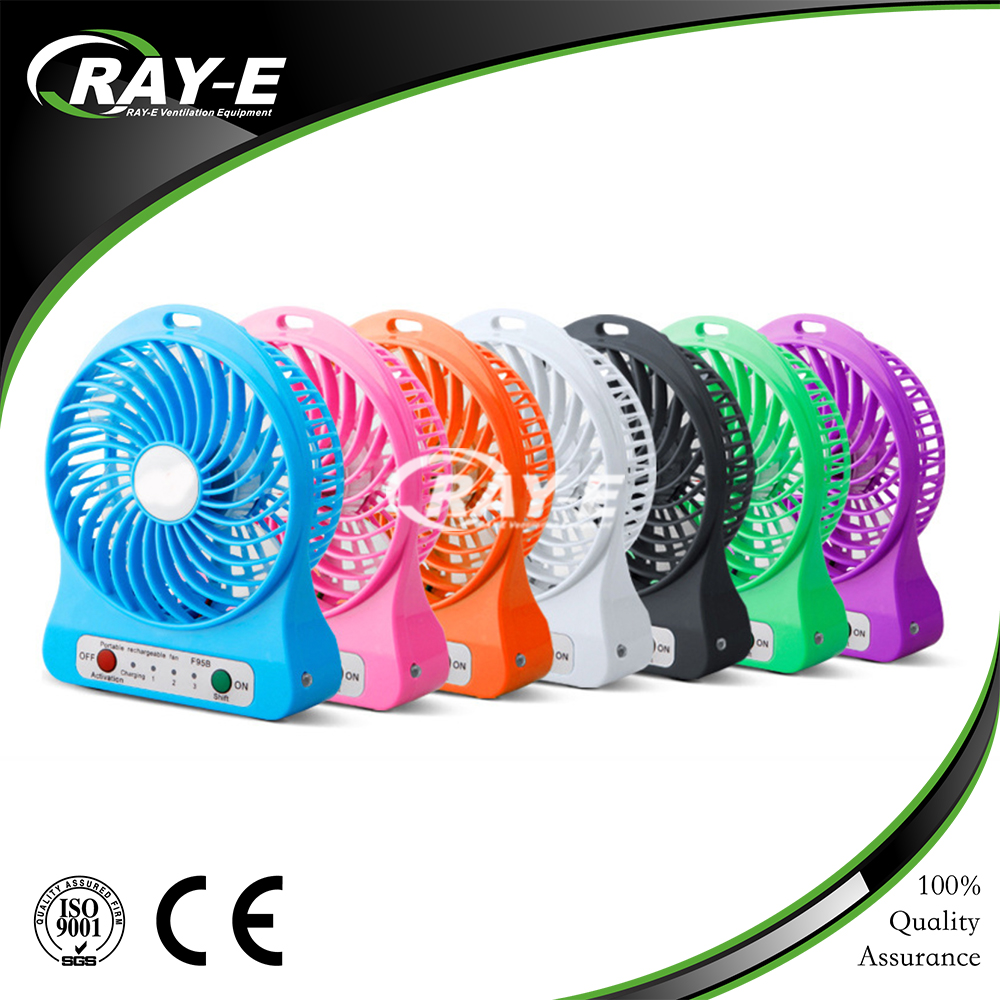 2016 hot-sale box fan wholesale portable rechargeable battery USB mini electric handy fan