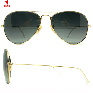 wholesale OEM italy design polarized stainless steel pilot sunglasses with glasses lens