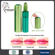 magic color changeable wild herbs moisturizing private label clear lipstick <strong>cosmetic</strong>