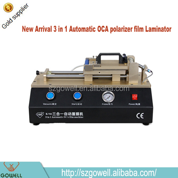 New Products 2015 innovative products 3 in 1 universal vacuum Automatic OCA polarizer film laminating lamination machine