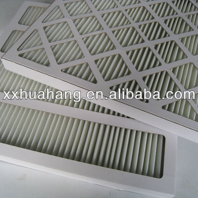 G3, G4, F5 paper frame pre air filter with high performance