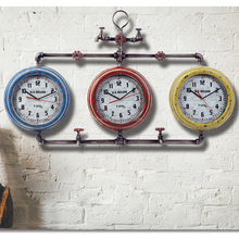 Taps shape water faucet special artistic iron wall clock for pub