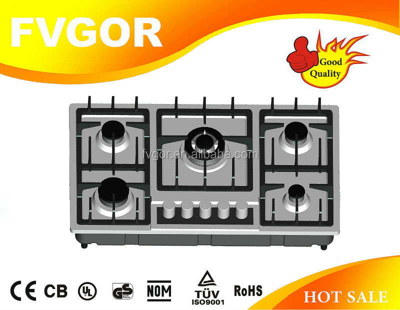 BEST CHOOSE!l 5 burner with gas cooktop with lid FA542