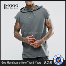 MGOO Customized Oversizes Sleeveless Hood Tank Tops Cotton Polyester French Terry Muscle Hood Vest