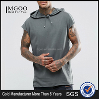 MGOO Customzied Oversizes Sleevless Hood Tank Tops Cotton Polyester French Terry Muscle Hood Vest