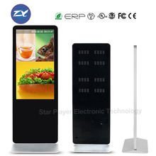 55inch 58inch floor standing touch screen video display android/windows network 3G /4G/wifi advertising display digital signage