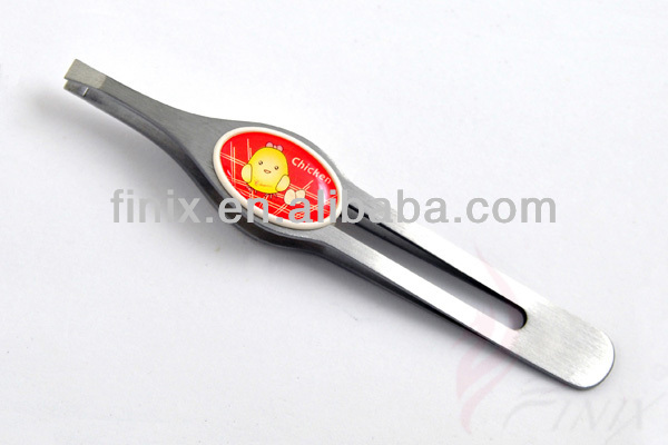 "3.75"" High Quality Flat Tip Eyebrow Tweezers"
