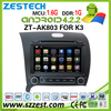ZESTECH 2015 android car stereo car dvd gps navigation system radio tv bluetooth pure android for kia rio k3