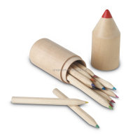FSC certificated advertising pencil nature wooden pencil packing in delicacy pencil shape wood tube with logo