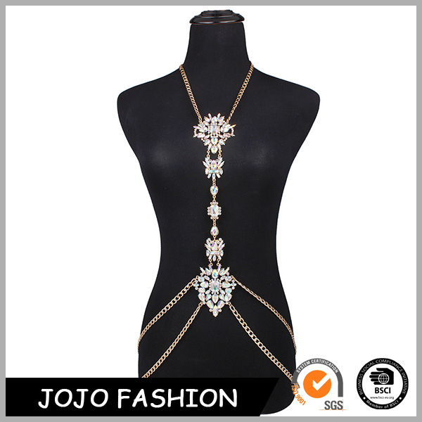 Statement Necklace Luxury Court Style Crystal Body Chain