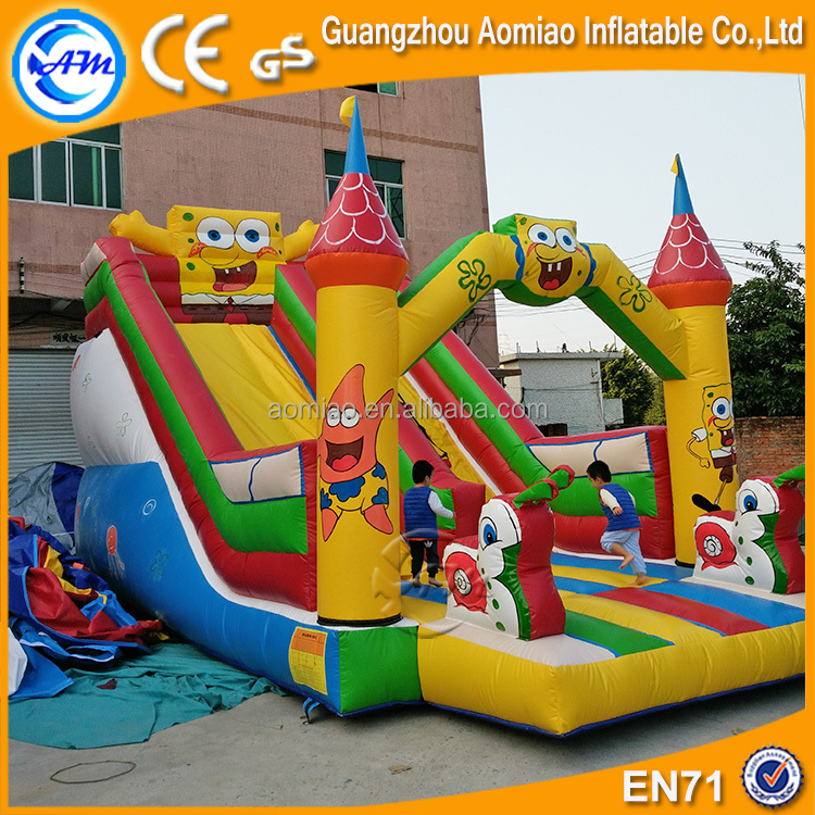 Spongebob kids water slide, cute design inflatable trippo slide