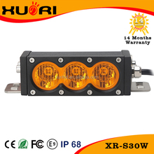 New 30w auto led lighting bar 12V IP68 white/amber led working light bar