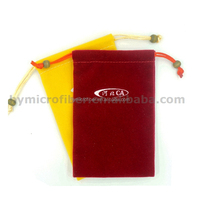 New Product Velvet Drawstring Christmas Wine Bottle Bag for Promotion