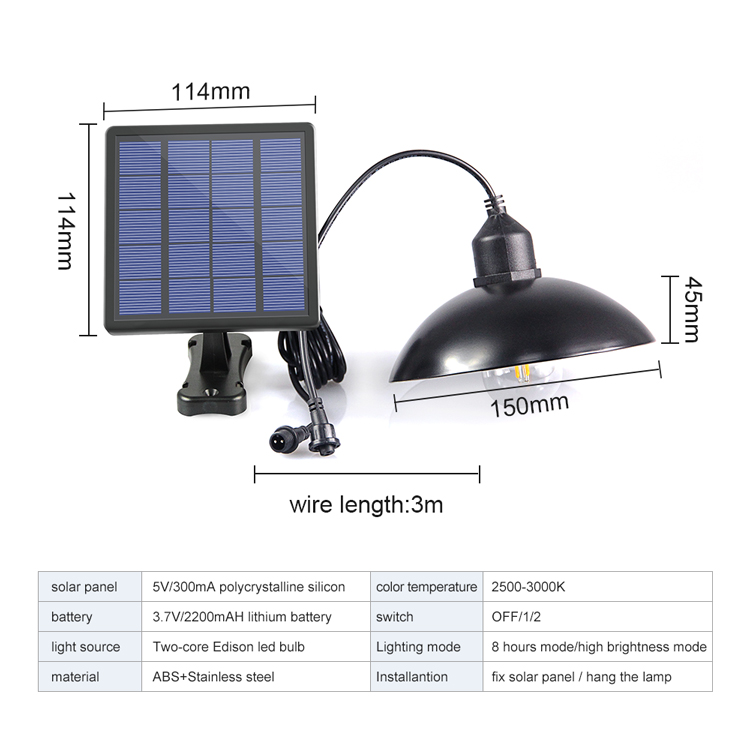 solar lamp garden Home Decor & Kitchen LED Light Lamp Bulb Waterproof Solar Rotatable Outdoor Garden Camping Night Lamp