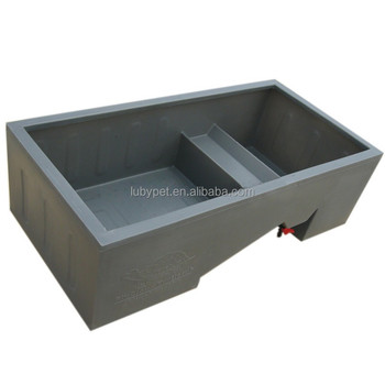 High quality different sized PE Plastic Turtle Breeding Tub for choice