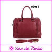 Big discount women ladies pu leather vanity bag for wholesale price