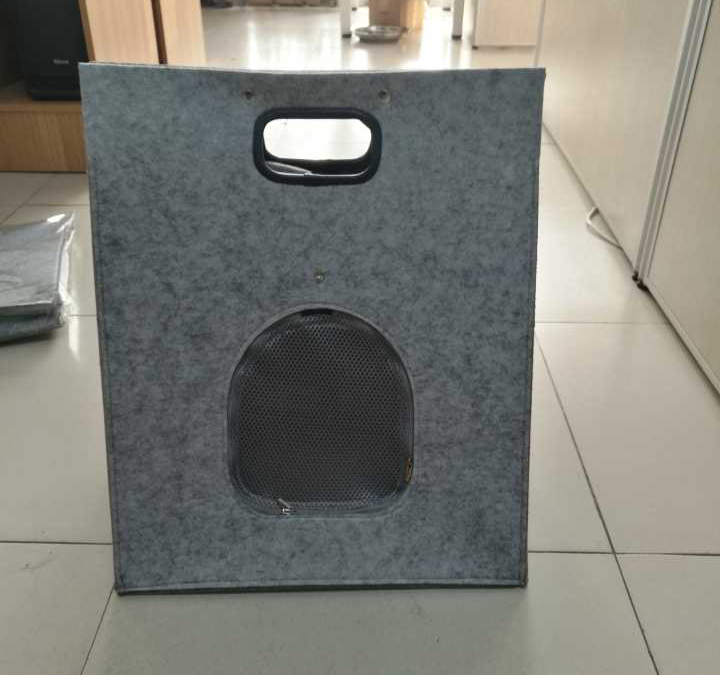 handle felt three usage cat cave pet bag/ house/bed in china