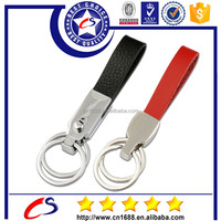 Promotional custom hand made genuine leather key chain