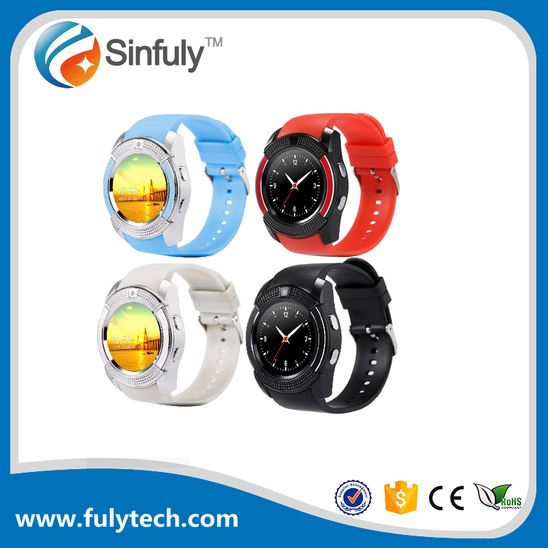 V8 Wireless Bluetooth 3.0 Touch Screen Smart Watch v8 android smart watch