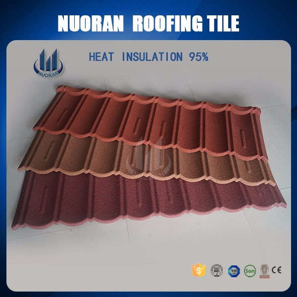 antique red color building material metal roof